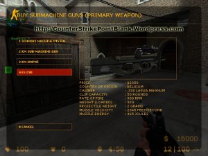Point Blank style P90 VGUI for Counter Strike: Source