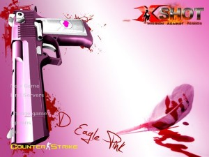 X-Shot Pink Deagle Background 1