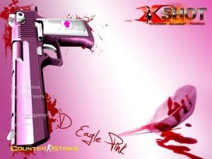 X-Shot Pink Deagle Background 1