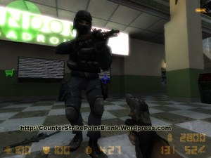 Point Blank SWAT Blue Camo Character Skin for Counter Strike 1.6 and Condition Zero